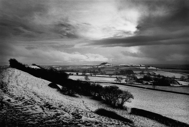 Towards an Iron Age hill fort, Somerset, 1991. Don McCullin